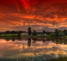 Millpond Sunset by manateevoyager