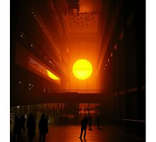 Olafur Eliasson's Setting Sun  by Ludwig Wagner