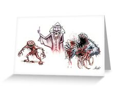 Horror Muppets Greeting Card