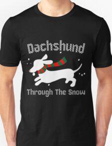 Dachshund Through The Snow Ugly Christmas Sweater Sweatshirt T-Shirt