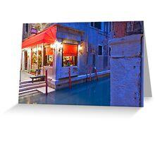 Venice Ristorante Greeting Card