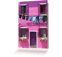 Burano Purple House Greeting Card