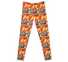 Sail Away Junk Pleasure Boat Leggings