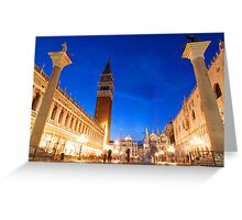 St Marks Evening Greeting Card