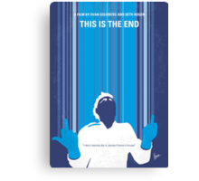 No220 My This is the end minimal movie poster Canvas Print