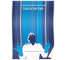 No220 My This is the end minimal movie poster Poster