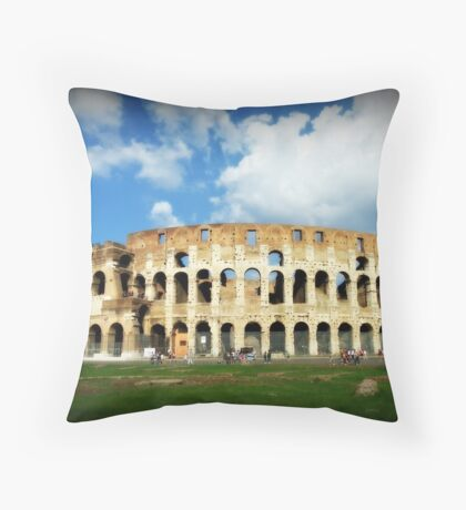 The Colosseum in Rome Throw Pillow