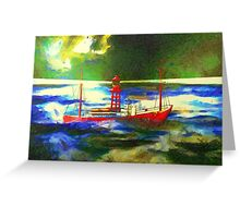 My digital painting of The South Goodwin Light Vessel Greeting Card
