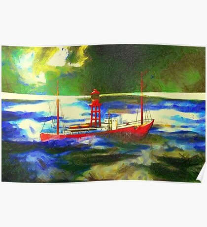 My digital painting of The South Goodwin Light Vessel Poster