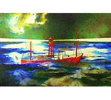 My digital painting of The South Goodwin Light Vessel Photographic Print
