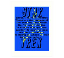 Space! The Final Frontier Art Print