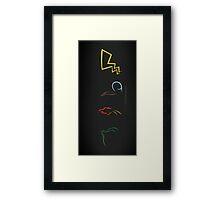 pokemon anniversary  Framed Print