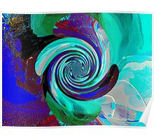 Spinning Abstract Poster