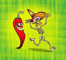 Hot Chili Pepper Nightmare for a Mexican Skeleton by Zoo-co