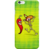 Hot Chili Pepper Nightmare for a Mexican Skeleton iPhone Case/Skin