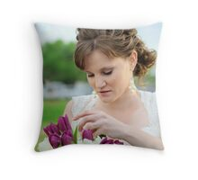 Beautiful bride Throw Pillow