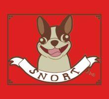 Boston Terrier Motto: SNORT Kids Clothes