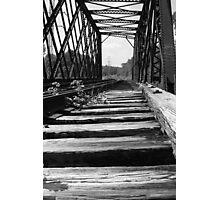 old train tracks - monochrome Photographic Print