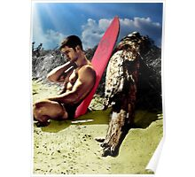 Surfer Boy Relaxing Poster
