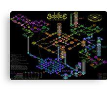Solstice castle map Canvas Print