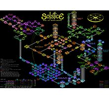 Solstice castle map Photographic Print