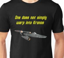 One does not simply warp into Kronos Unisex T-Shirt