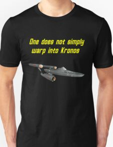 One does not simply warp into Kronos T-Shirt