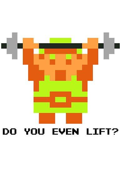 Do You Even Lift? 8-bit Link Edition v2 by JDNoodles