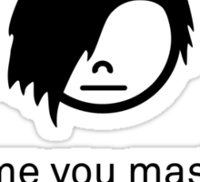 Emo & God Sticker