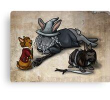 The Hobbit Bunnies Canvas Print