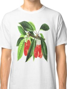 Red Cherries Vector on White Background Classic T-Shirt