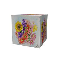 A Cube of Flowers Photographic Print