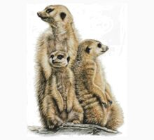 Meerkats Family by Nicole Zeug