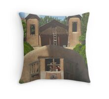 Church Famous For Healing in New Mexico Throw Pillow