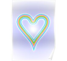 Rainbow Heart of Love Poster