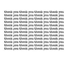 thank you~ Photographic Print
