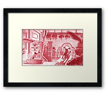 An ill treated hiccup Framed Print