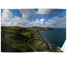 Coastal Path, Cornwall Poster
