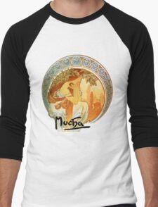 Mucha – Poetry Men's Baseball ¾ T-Shirt