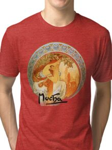 Mucha – Poetry Tri-blend T-Shirt