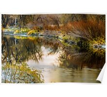 Autumn River Reflections Poster