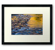 Sunset River Framed Print