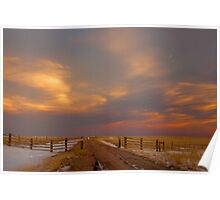 Pastel Sunset on the Plains Poster