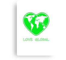 Love Global Green Canvas Print