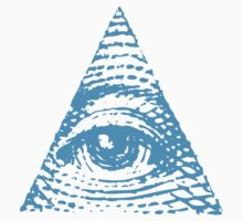 All seeing eye BLUE version by electrosterone