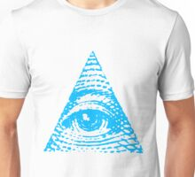 All seeing eye BLUE version Unisex T-Shirt