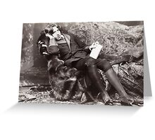 Oscar Wilde Greeting Card