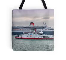 The Cunard Queen Mary 2 Tote Bag