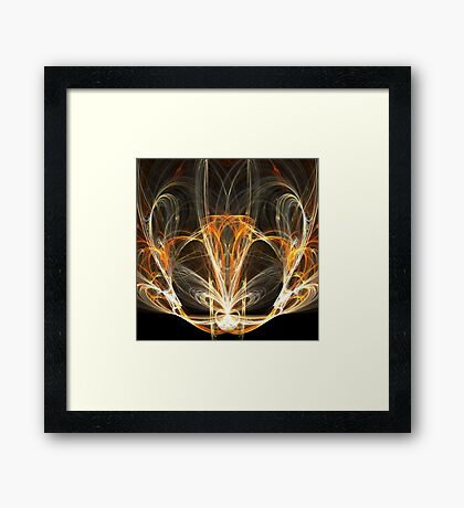 Abstract spiritual lamp Framed Print