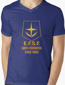 Gundam Earth Federation Mens V-Neck T-Shirt